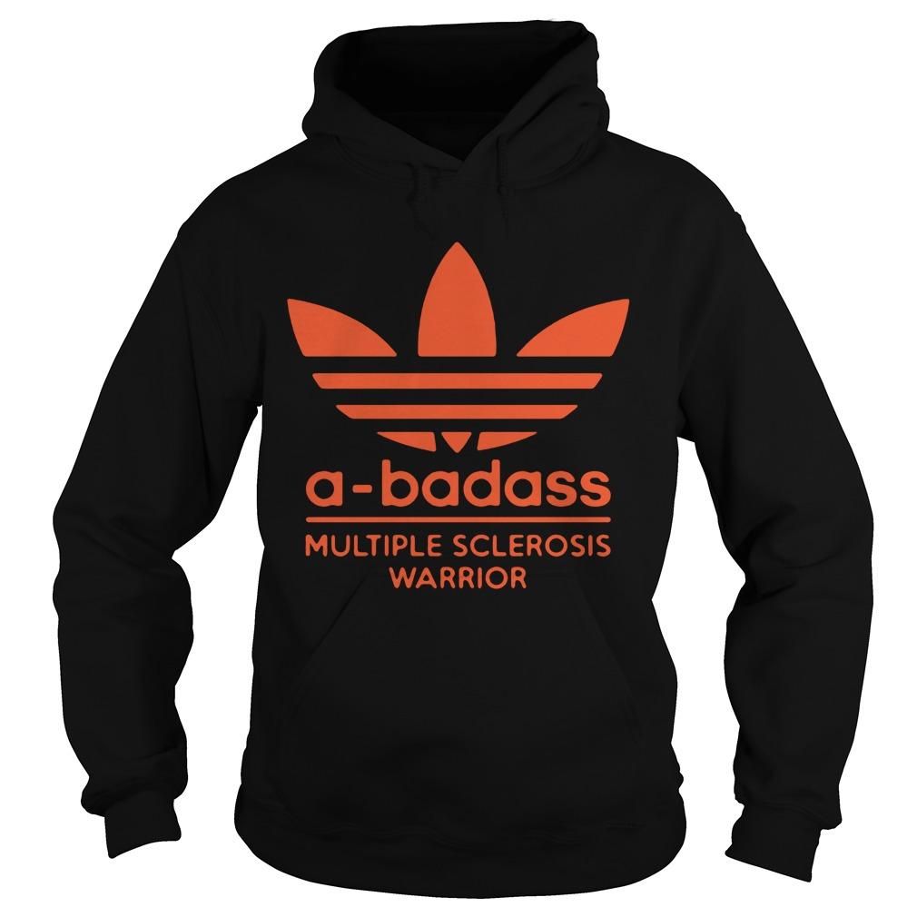 A-badass logo multiple sclerosis warrior hoodie