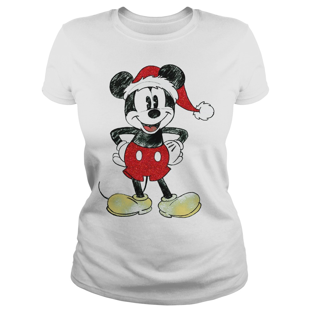 Merry christmas Mickey mouse ladies shirt