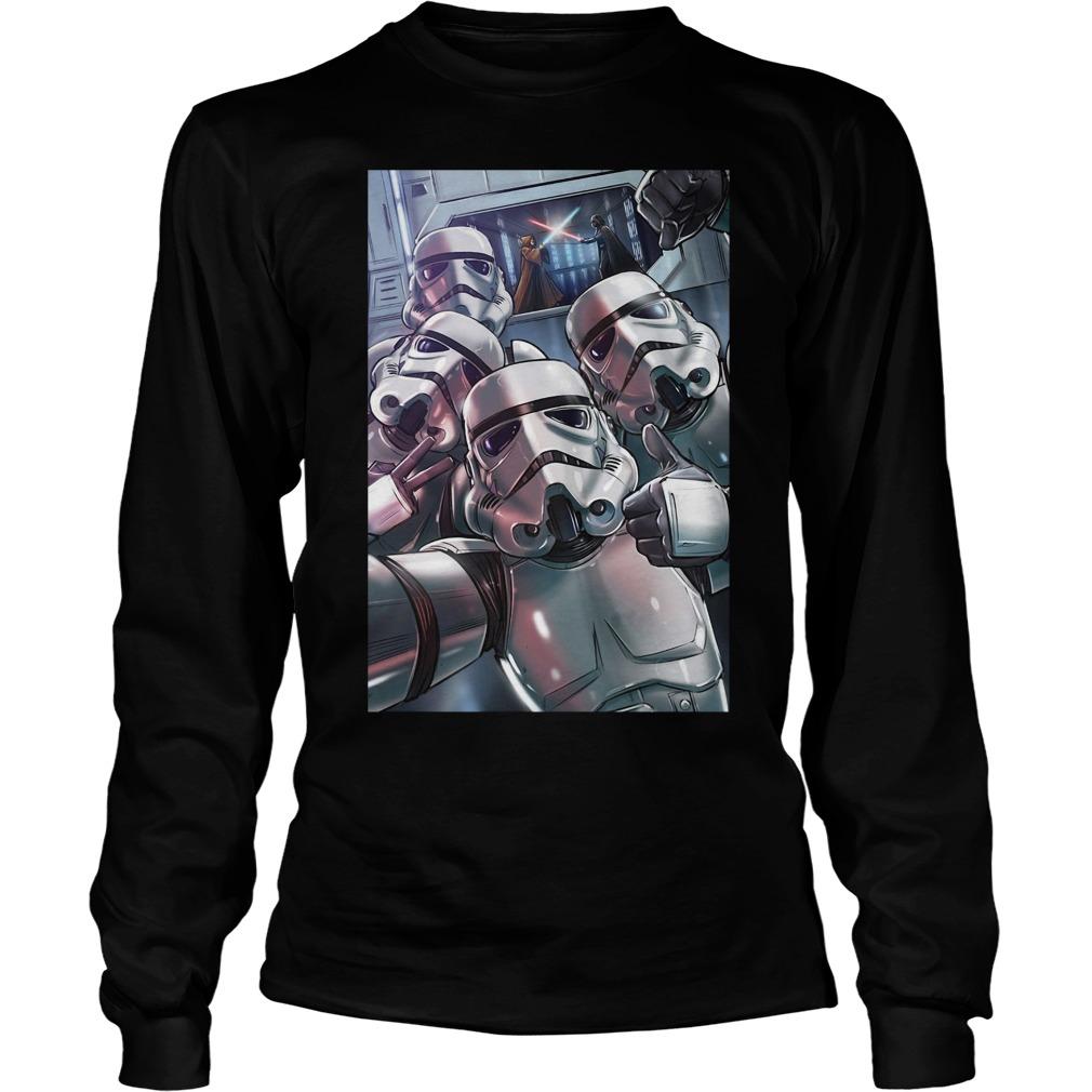 Stormtrooper selfie longsleeve shirt