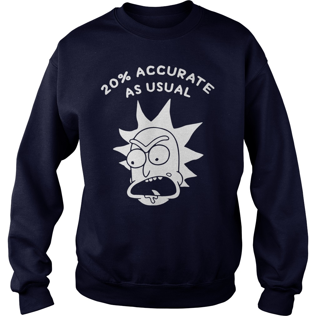 Rick and morty 20% accurate as usual sweater