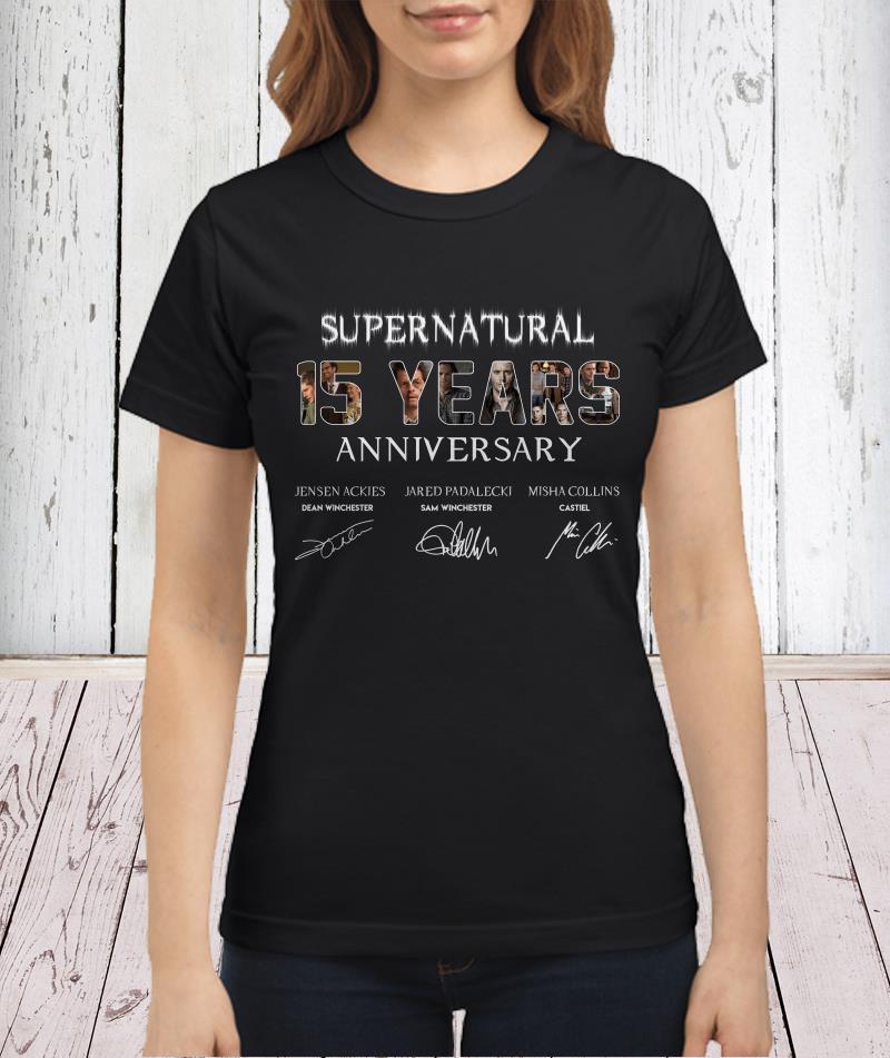 SuperNatural 15 years anniversary shirtSuperNatural 15 years anniversary shirt